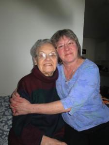 Barbara with her mother Marjorie Buls